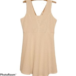 Maurices Dress Cream Color Patterned w/ Tan Lining
